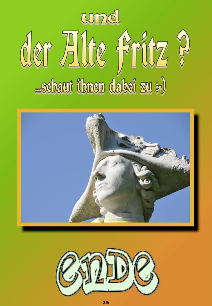 Äffle 3 zu Besuch beim Alten Fritz