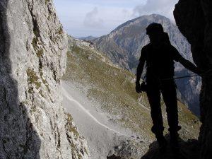 Foto von Sonja Wessel: Silhouette eines bergsteigers