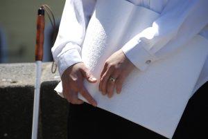 Foto von Sonja Wessel: Blinde mit Brailleschrift